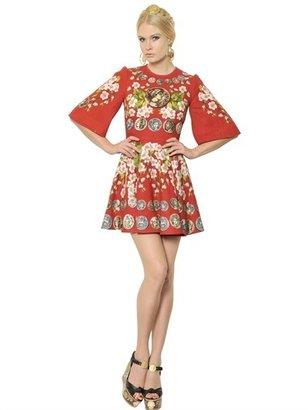Dolce & Gabbana Linen Bell Sleeved Dress