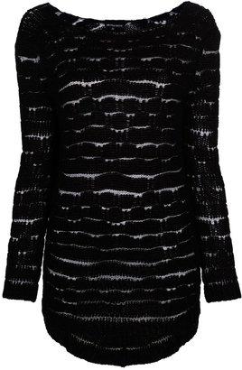 Ann Demeulemeester draped rear sweater
