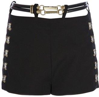 Paco Rabanne belt detailed shorts