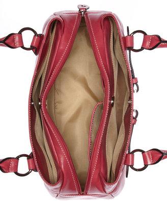 Giani Bernini Florentine Glazed Leather Swagger Satchel