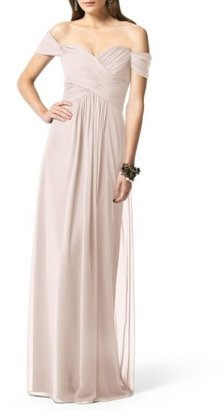 Women's Dessy Collection Ruched Chiffon Gown $234 thestylecure.com