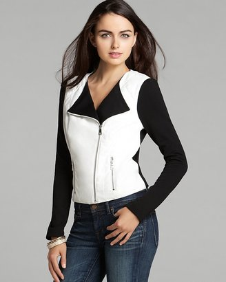 GUESS Jacket - Faux Leather and Knit
