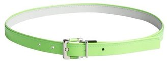 Calvin Klein citron and grey patent eather 'Neon Pop' reversible belt