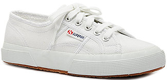 Superga 2750 - Canvas Platform Sneaker in White