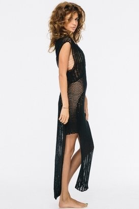 Indah Nia Crochet Maxi in Black $246 thestylecure.com