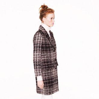 J.Crew Collection tartan car coat