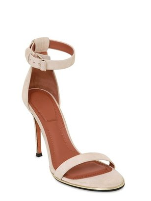 Givenchy 100mm Suede Ankle Strap Sandals