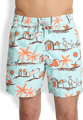 Vilebrequin Father/Son Print Swim Trunks