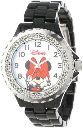 Disney Women's W000502 Minnie Mouse Enamel Sparkle Bracelet Watch