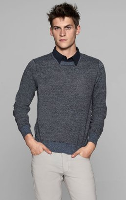 Theory Riland CP Sweater in Orb Linen Blend