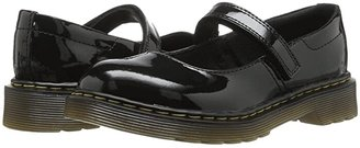 Dr. Martens Kid's Collection Maccy Mary Jane (Little Kid) (Black Patent Lamper) Girls Shoes