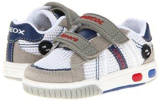 Geox Kids - Baby/Jr Gregg (Toddler) (White/Royal) - Footwear