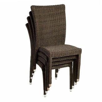 Atlantic 4-pc. Bari Wicker Outdoor Chair Set