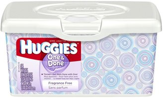 Huggies One and Done Unscented Baby Wipes Tub - 64ct