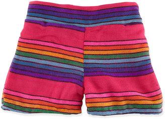 Little Mass Striped Rainbow Shorts, 2T-4T
