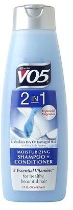 VO5 Alberto 2 in 1 Moisturizing Shampoo + Conditioner, Revitalizes Dry or Damaged Hair