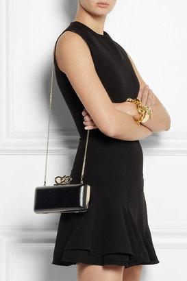Diane von Furstenberg Sutra lizard-effect glossed-leather box clutch