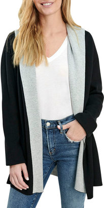 Splendid Gleam Open-Front Split-Hem Cardigan