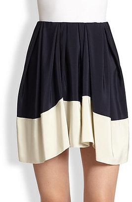 3.1 Phillip Lim Silk Satin Colorblock Skirt