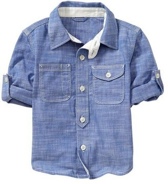 Gap Convertible chambray shirt