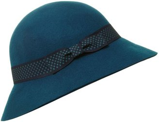 House of Fraser Dickins & Jones Floppy cloche with spotted trim
