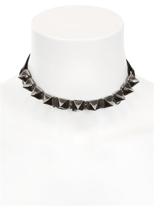 Emanuele Bicocchi Nappa Leather & Silver Spiked Collar