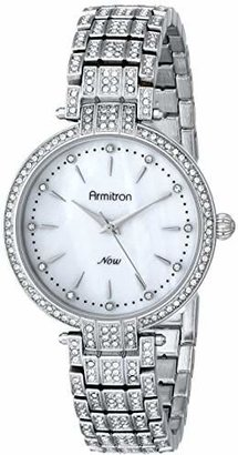 Armitron Women's 75/5252MPSV Swarovski Crystal-Accented Silver-Tone Bracelet Watch $93.75 thestylecure.com