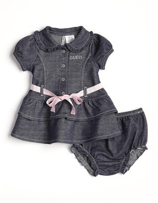 GUESS Newborn Girls 0-9 Months Denim Dress Set