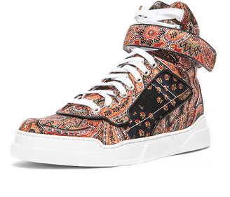 Givenchy Printed Twill Silk Sneaker in Multi