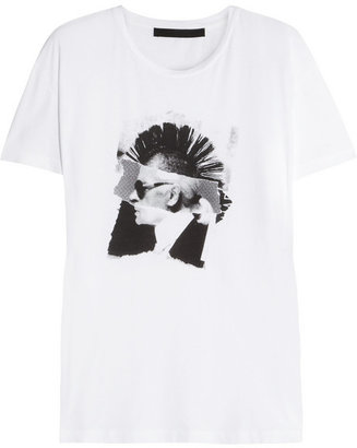 Karl Lagerfeld Never Mind printed cotton T-shirt