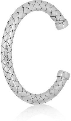 Intrecciato silver bracelet
