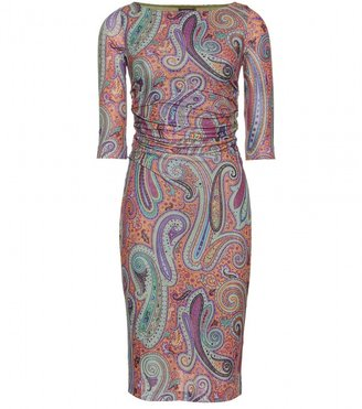 Etro GATHERED DRESS WITH PAISLEY PRINT