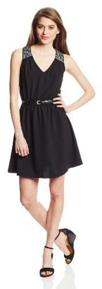 Amy Byer A. Byer Juniors Full Skirt Fit and Flare Dress