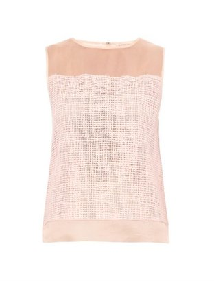 Rebecca Taylor Net-lace sleeveless blouse