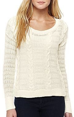 Allen B. Long-Sleeve Cable Knit Sweater