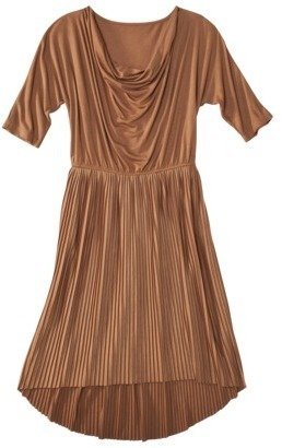 Mossimo Women's Dolman Sleeve Pleated Dress with Cowl Neck - Assorted Colors