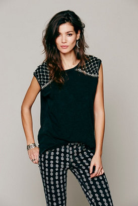 Free People Womens Decorated Rebel Top