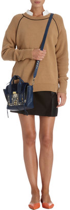 3.1 Phillip Lim Fur-Trimmed Mini Pashli Satchel