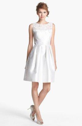 Eliza J Embellished Lace Yoke Fit & Flare Dress
