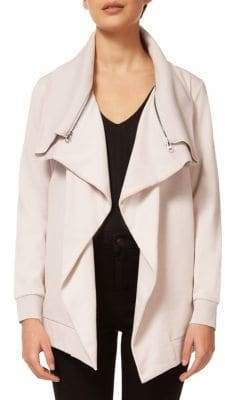 Dex Cotton-Blend Draped Cardigan