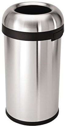 Container Store 15.8 gal. Bullet Open Can Stainless