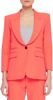 Smythe Peaked-Lapel One-Button Jacket, Fluorescent Orange