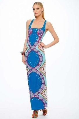 Mara Hoffman Spirit Naga Racerback Maxi Dress in Denim $239 thestylecure.com