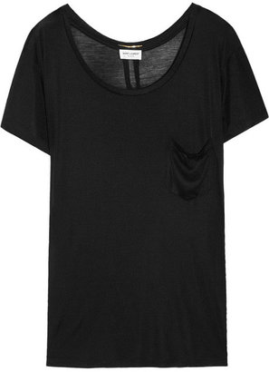 Saint Laurent Silk-jersey T-shirt
