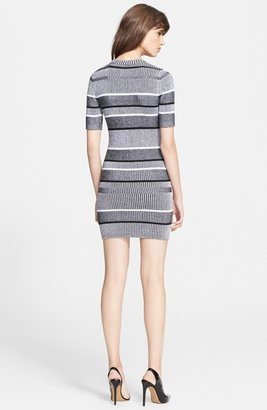 Alexander Wang Stripe Rib Knit Sweater Dress