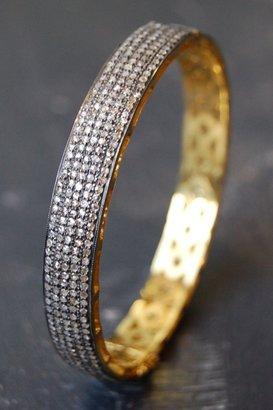 Ronas Rona Pfeiffer Wide Pave Diamond Bangle
