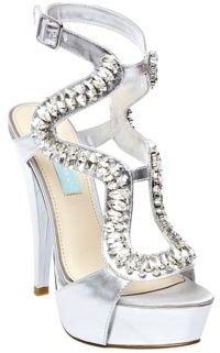 Betsey Johnson Ring Metallic High-Heel Sandals