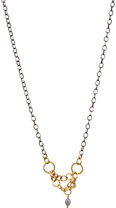 Rosanne Pugliese Grey Diamond Mini Circles Necklace