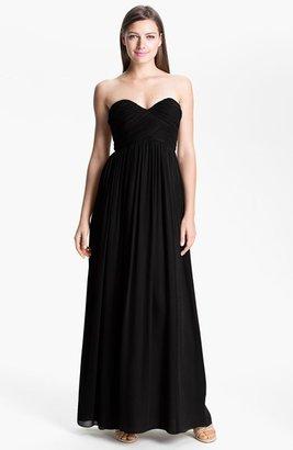 Donna Morgan 'Laura' Ruched Sweetheart Silk Chiffon Gown