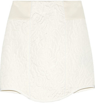 Tibi Katrin paneled matelassé mini skirt